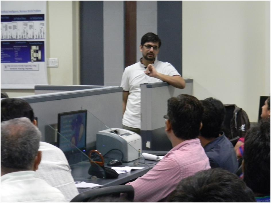 Mr. Akshya Madan leading the workshop
