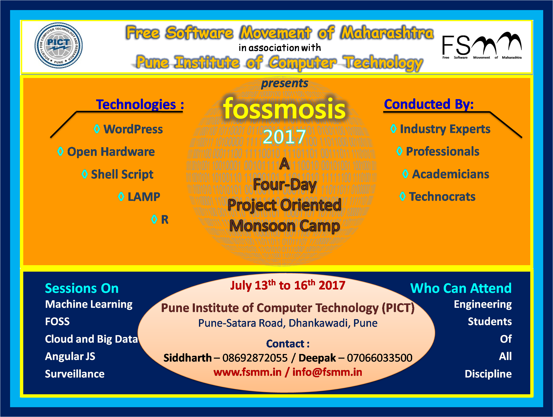 Fossmosis - Four Day Project Oriented IT Camp for Engineering Students
